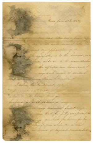Primary view of object titled '[Letter to J. L. Halbert - January 21, 1865]'.
