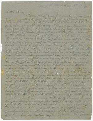 Primary view of object titled '[Letter from L. D. Bradley to Minnie Bradley - May 22, 1864]'.