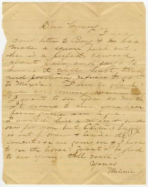 Primary view of object titled '[Letter from Minnie Bradley to L. D. Bradley]'.