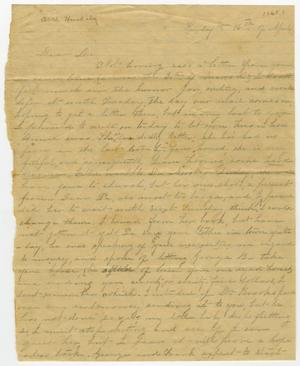 Primary view of object titled '[Letter from Minnie Bradley to L. D. Bradley - April 16, 1865]'.