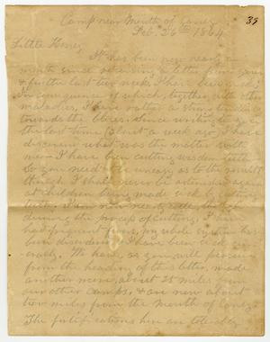 Primary view of [Letter from L. D. Bradley to Minnie Bradley - February 26, 1864]