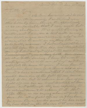 Primary view of object titled '[Letter from L. D. Bradley to Minnie Bradley - December 10, 1864]'.