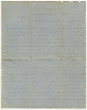Primary view of object titled '[Letter from L. D. Bradley to His Father - December 19, 1862]'.