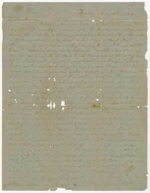Primary view of object titled '[Letter from L. D. Bradley to Minnie Bradley - May 10, 1864]'.