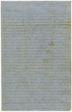 Primary view of object titled '[Letter from L. D. Bradley to Minnie Bradley - May 8, 1864]'.