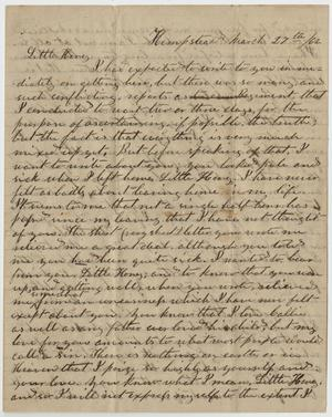 Primary view of [Letter from L. D. Bradley to Minnie Bradley - March 27, 1862]