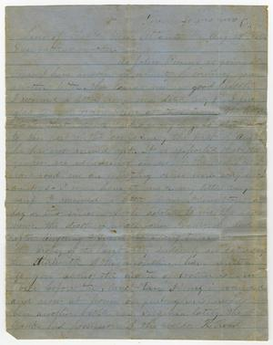 Primary view of object titled '[Letter from W. H. Henderson - August 29, 1864]'.