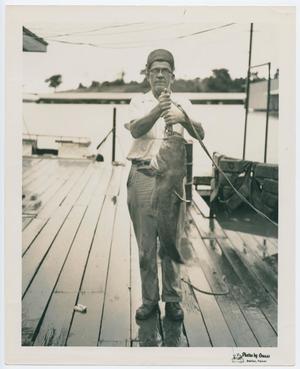 [Henry S. Clountz Holding Catfish]