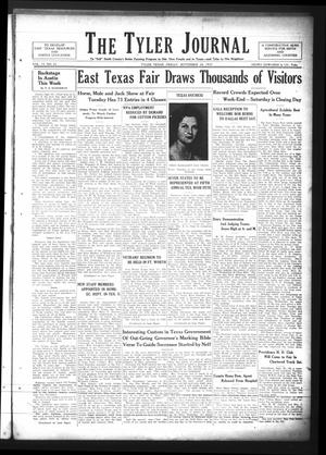 Primary view of The Tyler Journal (Tyler, Tex.), Vol. 13, No. 22, Ed. 1 Friday, September 24, 1937