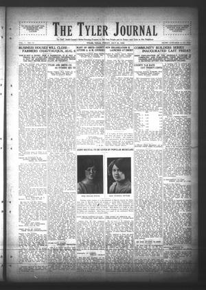 Primary view of object titled 'The Tyler Journal (Tyler, Tex.), Vol. 1, No. 13, Ed. 1 Friday, July 31, 1925'.
