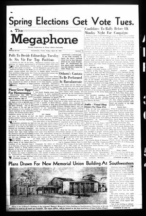 Primary view of object titled 'The Megaphone (Georgetown, Tex.), Vol. 48, No. 34, Ed. 1 Friday, April 30, 1954'.