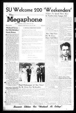 Primary view of object titled 'The Megaphone (Georgetown, Tex.), Vol. 48, No. 29, Ed. 1 Saturday, March 20, 1954'.