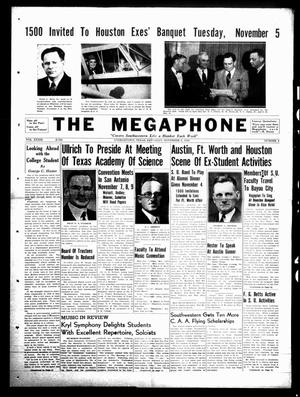 Primary view of object titled 'The Megaphone (Georgetown, Tex.), Vol. 33, No. 8, Ed. 1 Saturday, November 2, 1940'.