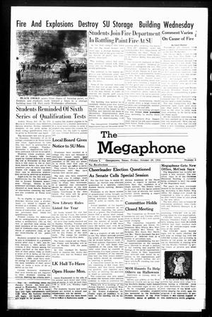 Primary view of object titled 'The Megaphone (Georgetown, Tex.), Vol. 50, No. 6, Ed. 1 Friday, October 28, 1955'.