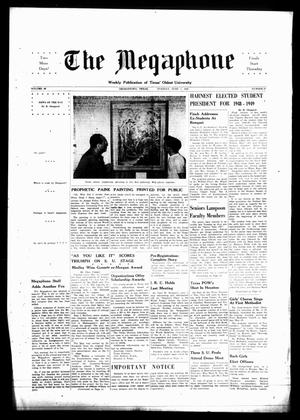 Primary view of object titled 'The Megaphone (Georgetown, Tex.), Vol. [41], No. 31, Ed. 1 Tuesday, June 1, 1948'.