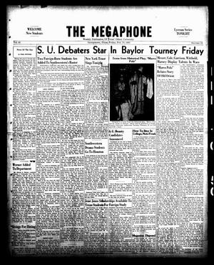 Primary view of object titled 'The Megaphone (Georgetown, Tex.), Vol. 42, No. 15, Ed. 1 Friday, February 10, 1950'.