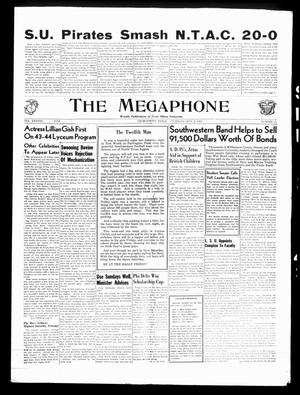 Primary view of object titled 'The Megaphone (Georgetown, Tex.), Vol. 38, No. 11, Ed. 1 Tuesday, September 21, 1943'.