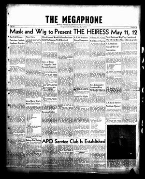 Primary view of object titled 'The Megaphone (Georgetown, Tex.), Vol. 42, No. 26, Ed. 1 Wednesday, May 3, 1950'.
