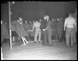 Primary view of object titled '[Dance at Camp Bowie]'.