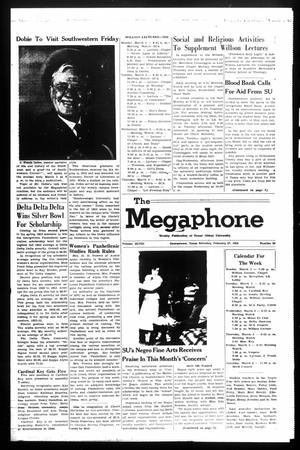 Primary view of object titled 'The Megaphone (Georgetown, Tex.), Vol. 48, No. 26, Ed. 1 Saturday, February 27, 1954'.
