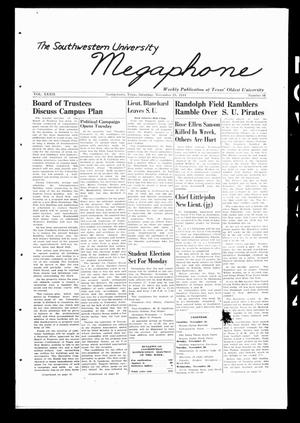 Primary view of object titled 'The Megaphone (Georgetown, Tex.), Vol. 39, No. 16, Ed. 1 Saturday, November 25, 1944'.