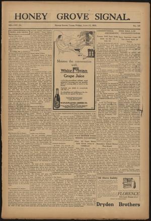 Primary view of Honey Grove Signal. (Honey Grove, Tex.), Vol. 25, No. 20, Ed. 1 Friday, June 25, 1915