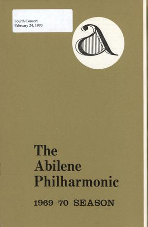 Primary view of object titled 'Abilene Philharmonic Playbill: February 24, 1970'.