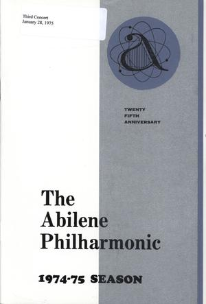 Primary view of object titled 'Abilene Philharmonic Playbill: January 28, 1975'.