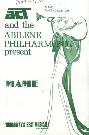 Primary view of object titled 'Abilene Philharmonic Playbill: April 23rd-April 25th, 1970'.