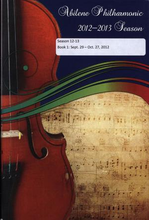 Abilene Philharmonic Playbill: September 29-October 27, 2012