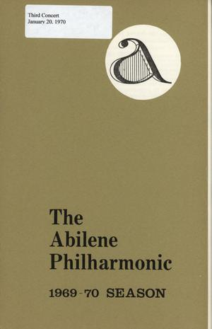 Primary view of object titled 'Abilene Philharmonic Playbill: January 20, 1970'.