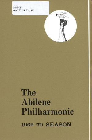Primary view of object titled 'Abilene Philharmonic Playbill: April 23-April 25, 1970'.