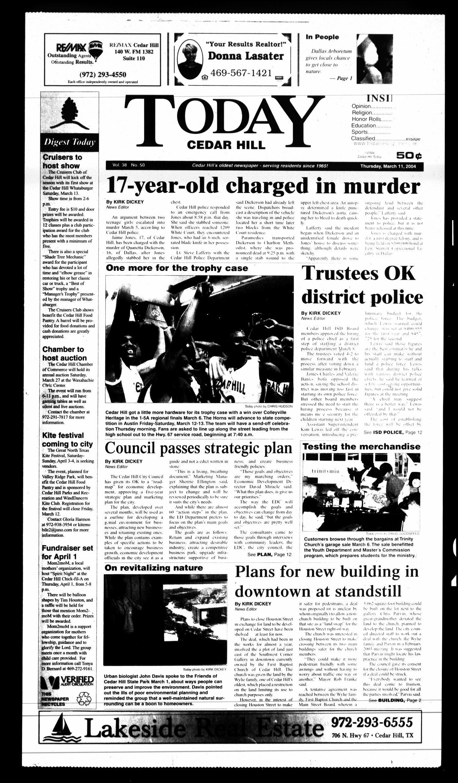 Today Cedar Hill Duncanville Tex Vol 38 No 50 Ed 1