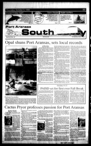 Primary view of object titled 'Port Aransas South Jetty (Port Aransas, Tex.), Vol. 25, No. 40, Ed. 1 Thursday, October 5, 1995'.