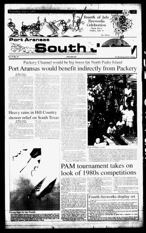 Primary view of object titled 'Port Aransas South Jetty (Port Aransas, Tex.), Vol. 27, No. 27, Ed. 1 Thursday, July 3, 1997'.