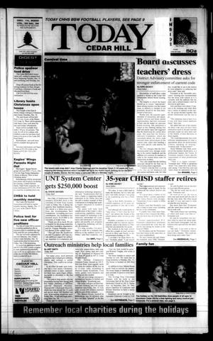 Primary view of object titled 'Today Cedar Hill (Duncanville, Tex.), Vol. 35, No. 38, Ed. 1 Thursday, December 14, 2000'.