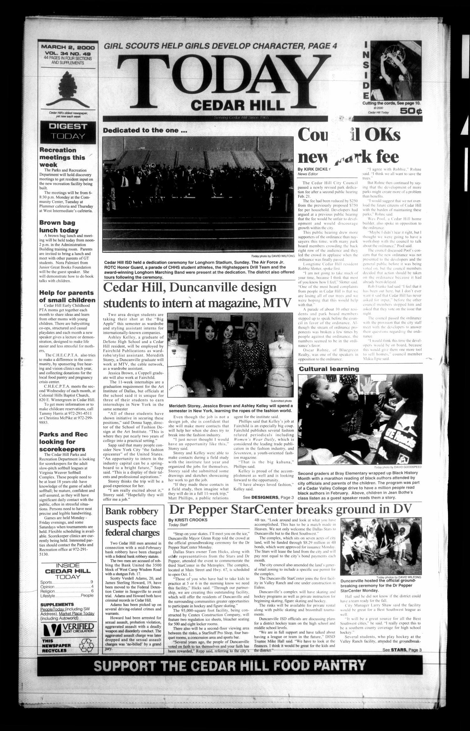 Today Cedar Hill Duncanville Tex Vol 34 No 49 Ed 1