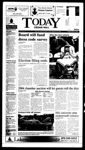 Primary view of object titled 'Today Cedar Hill (Duncanville, Tex.), Vol. 38, No. 51, Ed. 1 Thursday, March 18, 2004'.