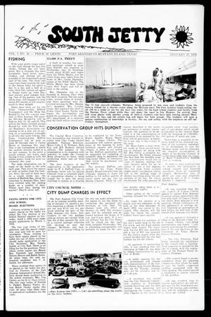 Primary view of object titled 'South Jetty (Port Aransas, Tex.), Vol. 1, No. 16, Ed. 1 Thursday, January 27, 1972'.