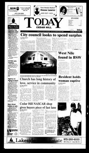 Primary view of object titled 'Today Cedar Hill (Duncanville, Tex.), Vol. 39, No. 16, Ed. 1 Thursday, July 15, 2004'.
