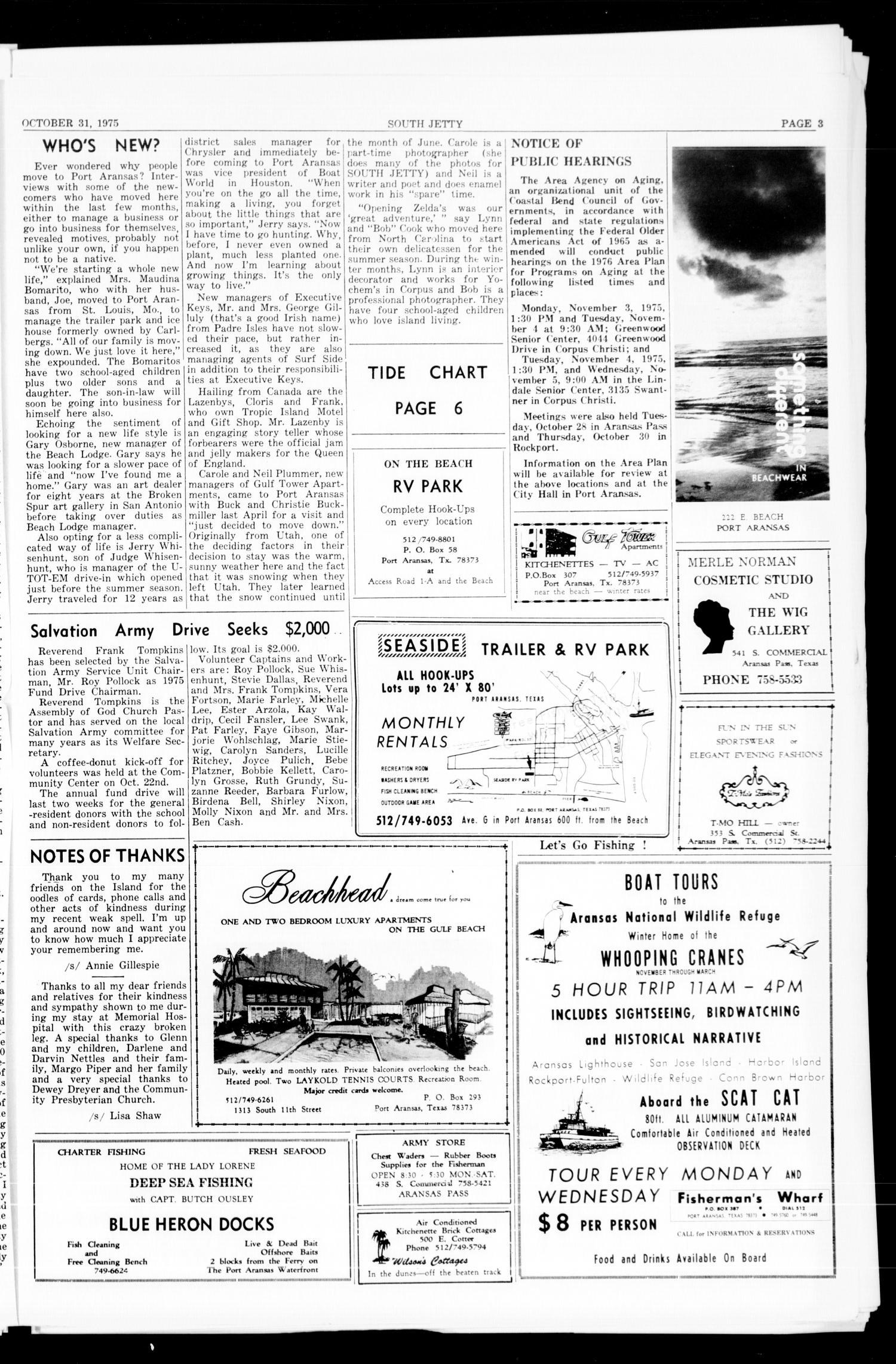 Port Aransas South Jetty Port Aransas Tex Vol 5 No 11 Ed 1