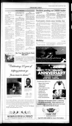Today Cedar Hill Duncanville Tex Vol 41 No 35 Ed 1