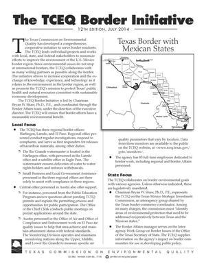 Primary view of object titled 'The Texas Commission on Environmental Quality Border Initiative, 12th Edition, July 2014'.