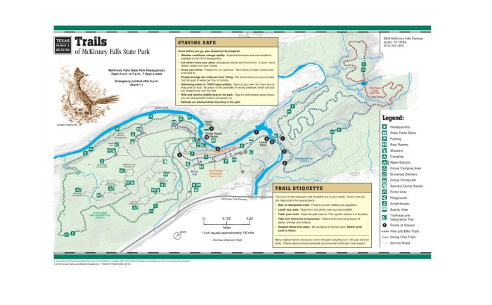 Mckinney Falls State Park Map Trails of McKinney Falls State Park   The Portal to Texas History