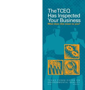 Primary view of object titled 'The TCEQ Has Inspected Your Business. What does this mean to you?'.