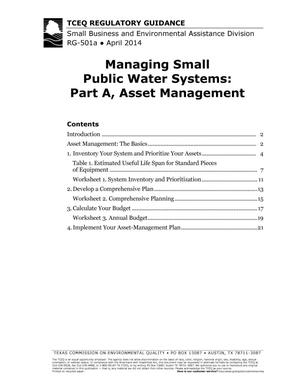Primary view of object titled 'Managing Small Public Water Systems: Part A, Asset Management'.