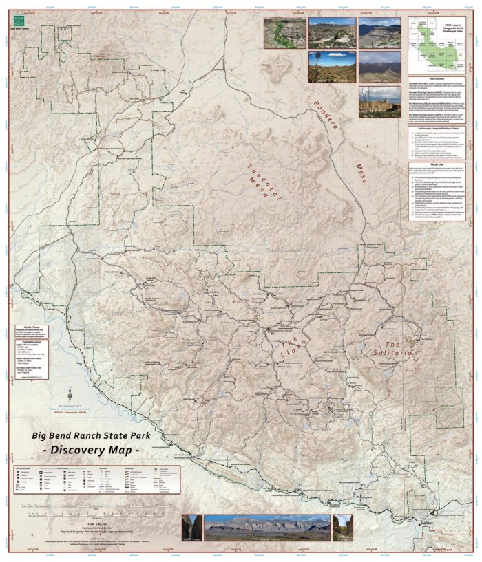 Big Bend Ranch State Park Discovery Map The Portal to Texas History
