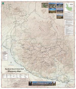 Primary view of object titled 'Big Bend Ranch State Park: Discovery Map'.