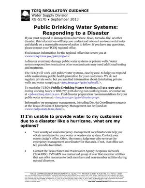 Primary view of object titled 'Public Drinking Water Systems: Responding to a Disaster'.