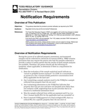 Primary view of object titled 'Notification Requirements'.